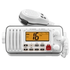 Radio Compacto con Amplia Pantalla. Disponible en color blanco.